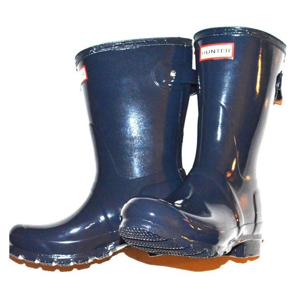 Hunter Original Short Adjustable Gloss Rain Boots NWT